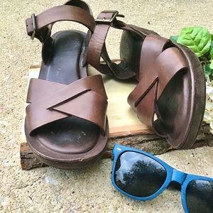 Kork-Ease Leather Sandal.
